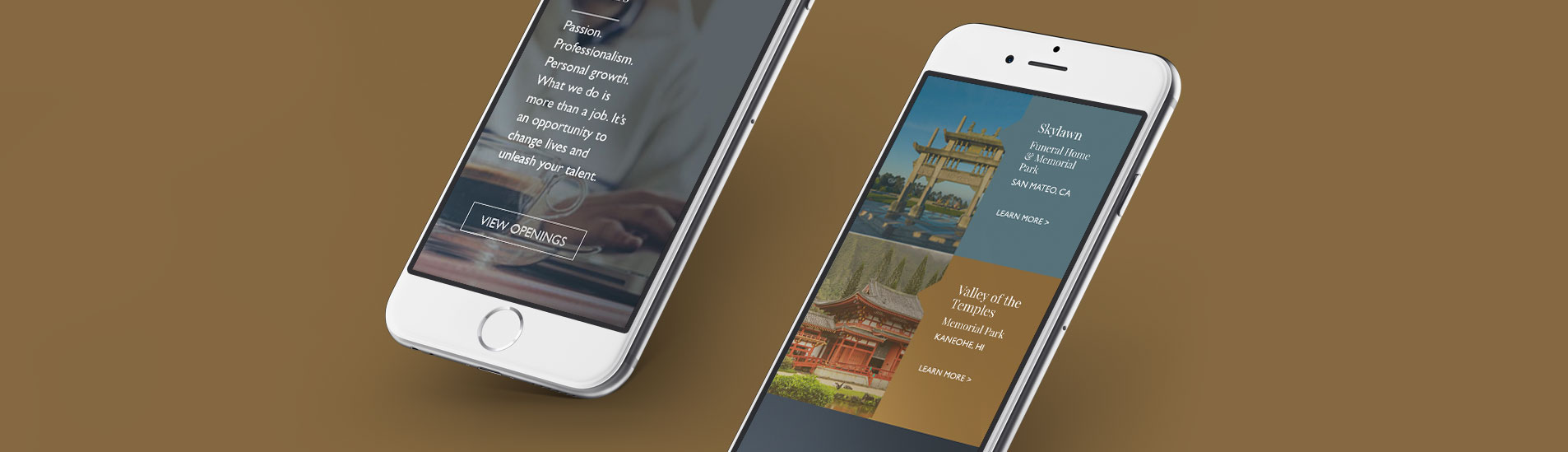 mobile website design for northstar memorials group
