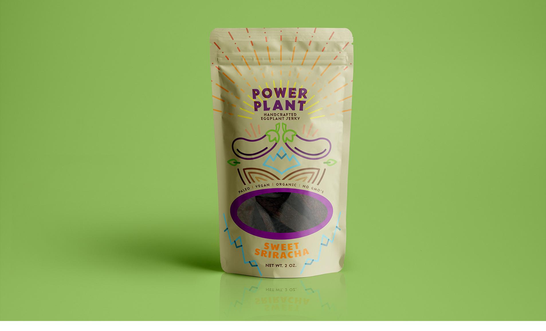 packaging design for eggplant jerky