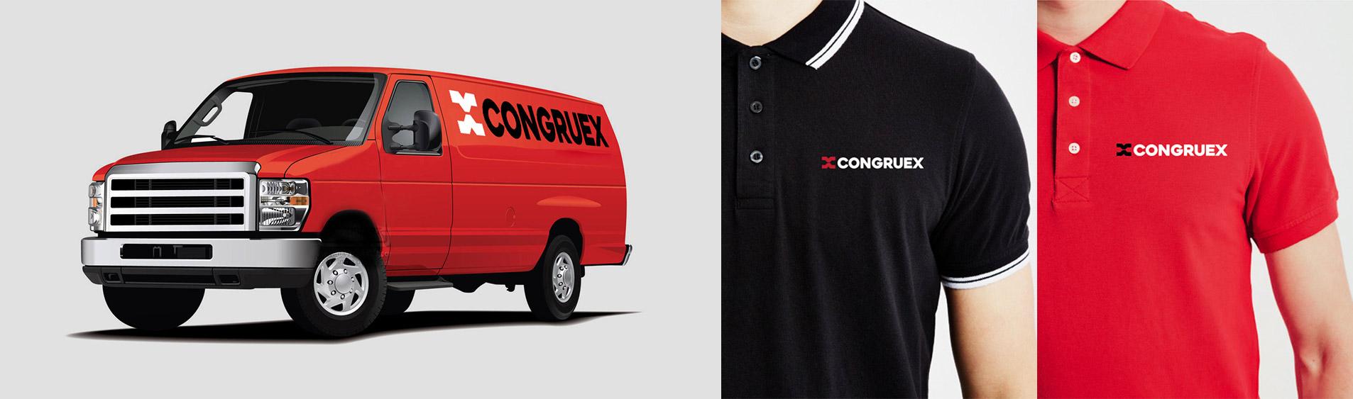 branding on van and shirts