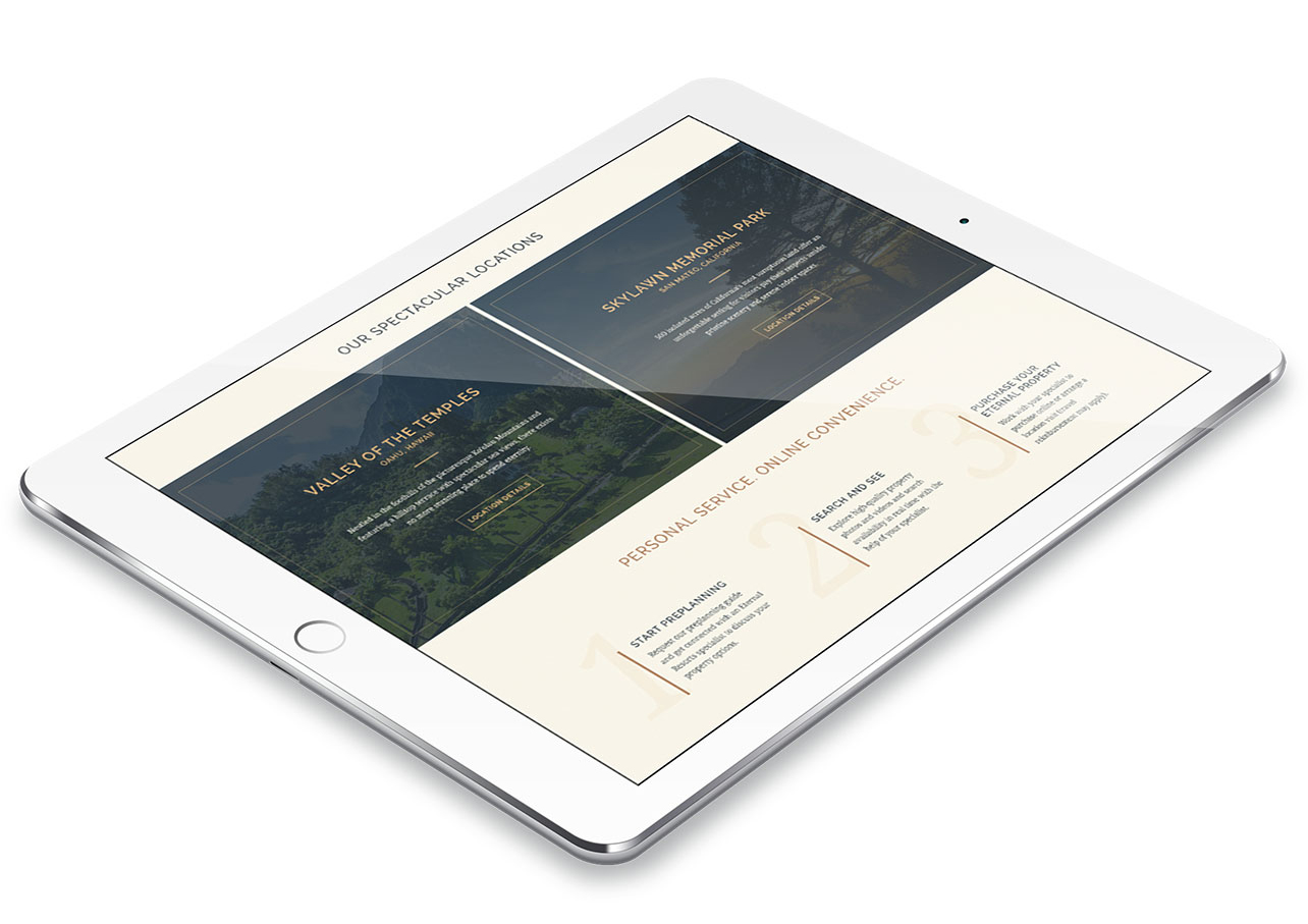 mobile website design for eternal resorts