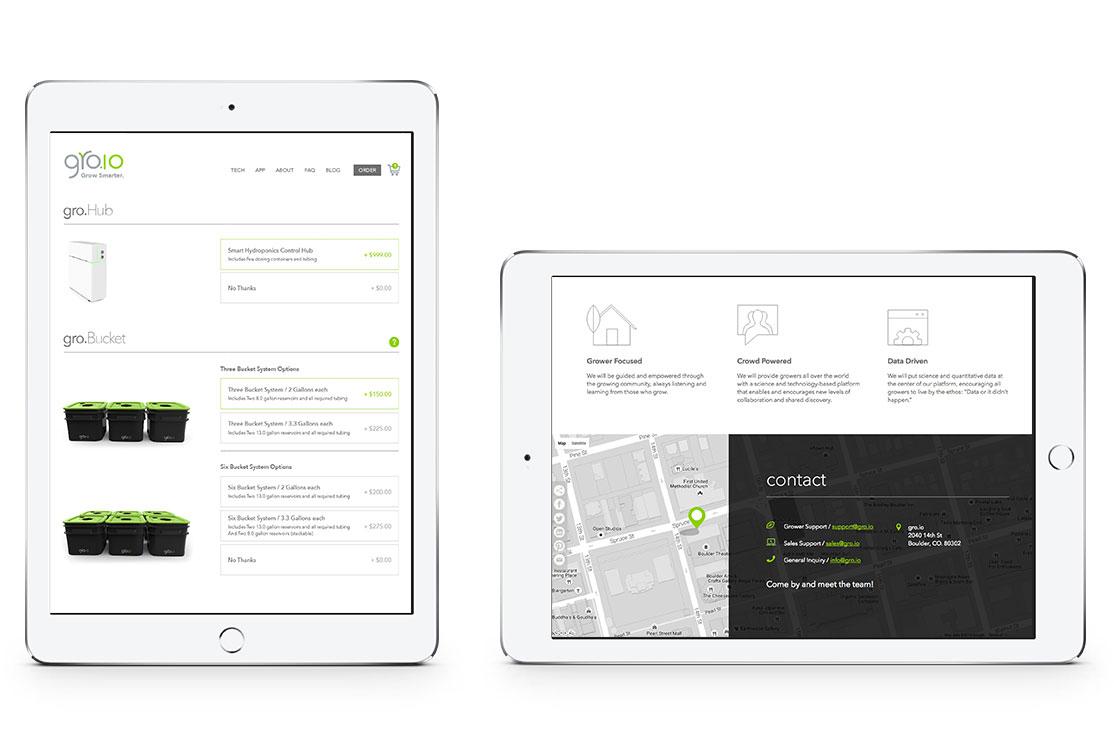 groio mobile website designs