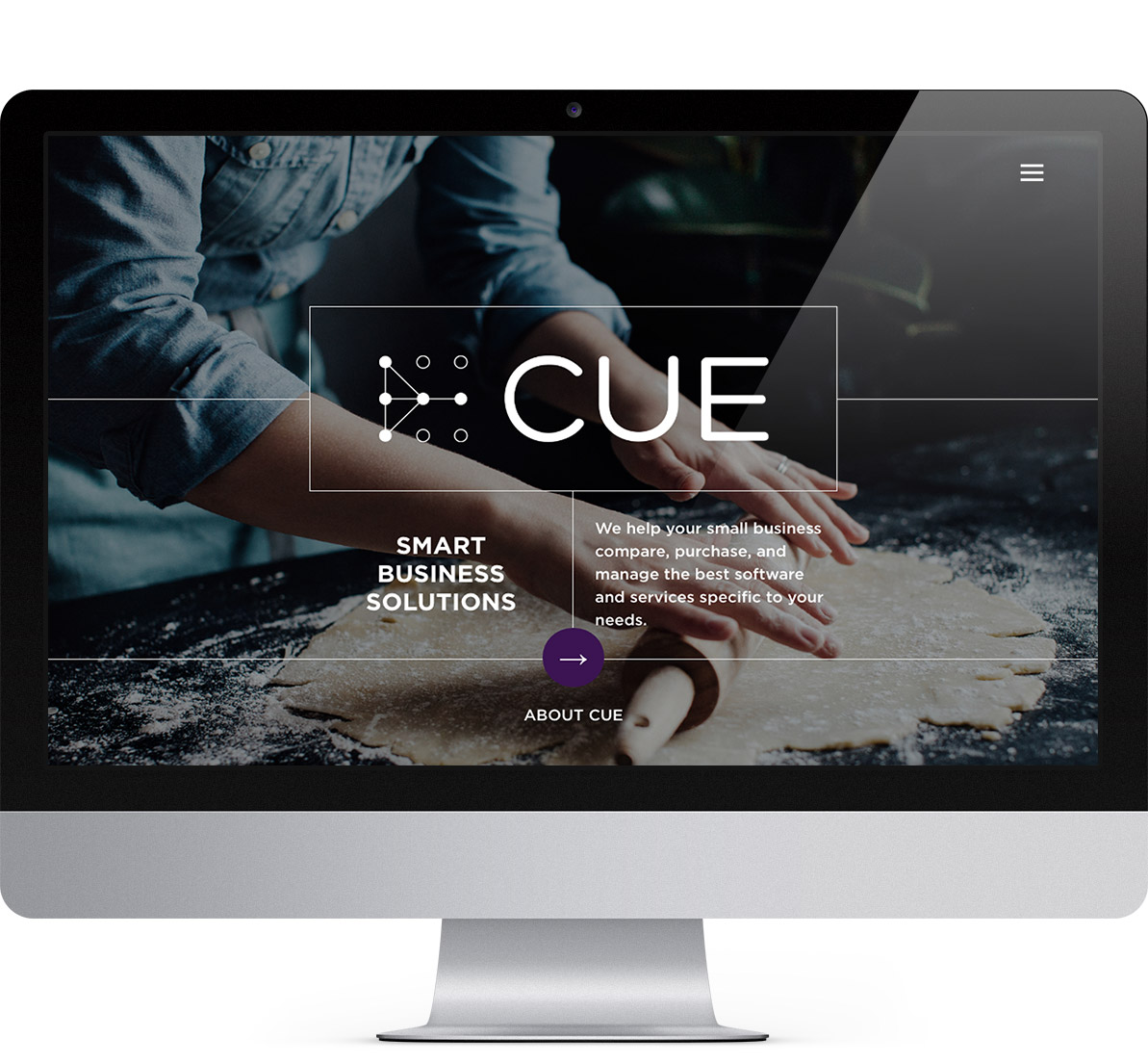 home page design for cue