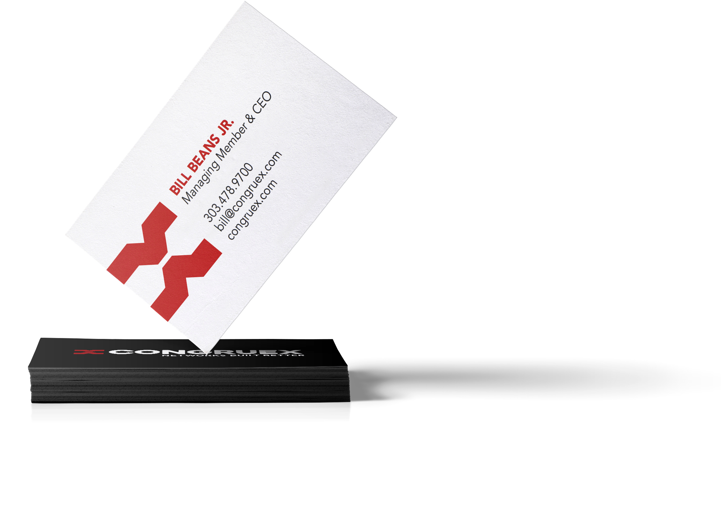 business card designs for congruex