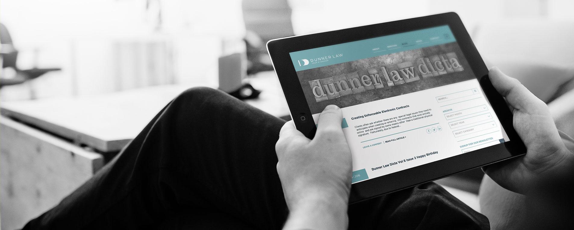 mobile website design for dunner law