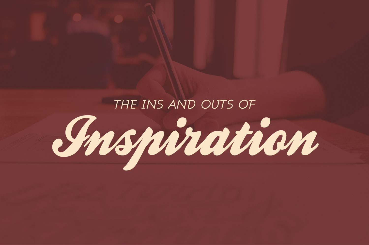 inspiration text on maroon background
