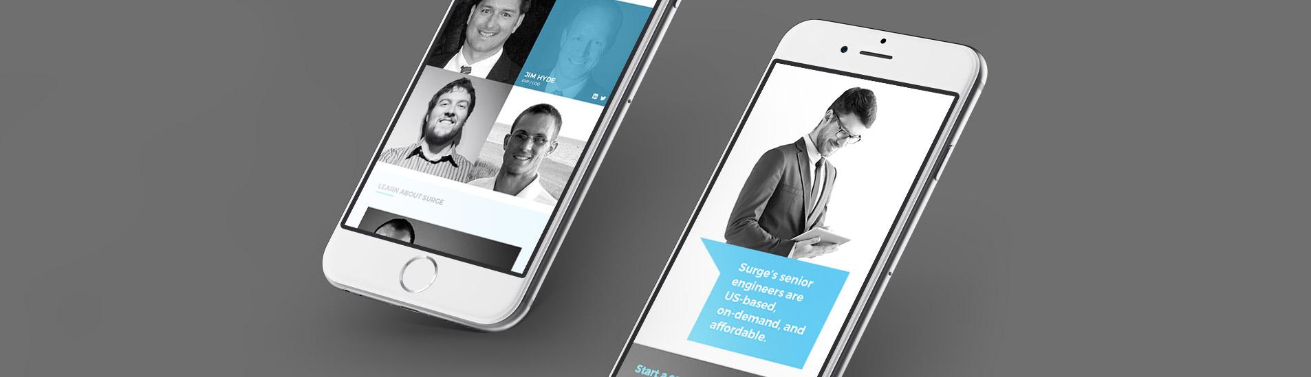 mobile website design for surge
