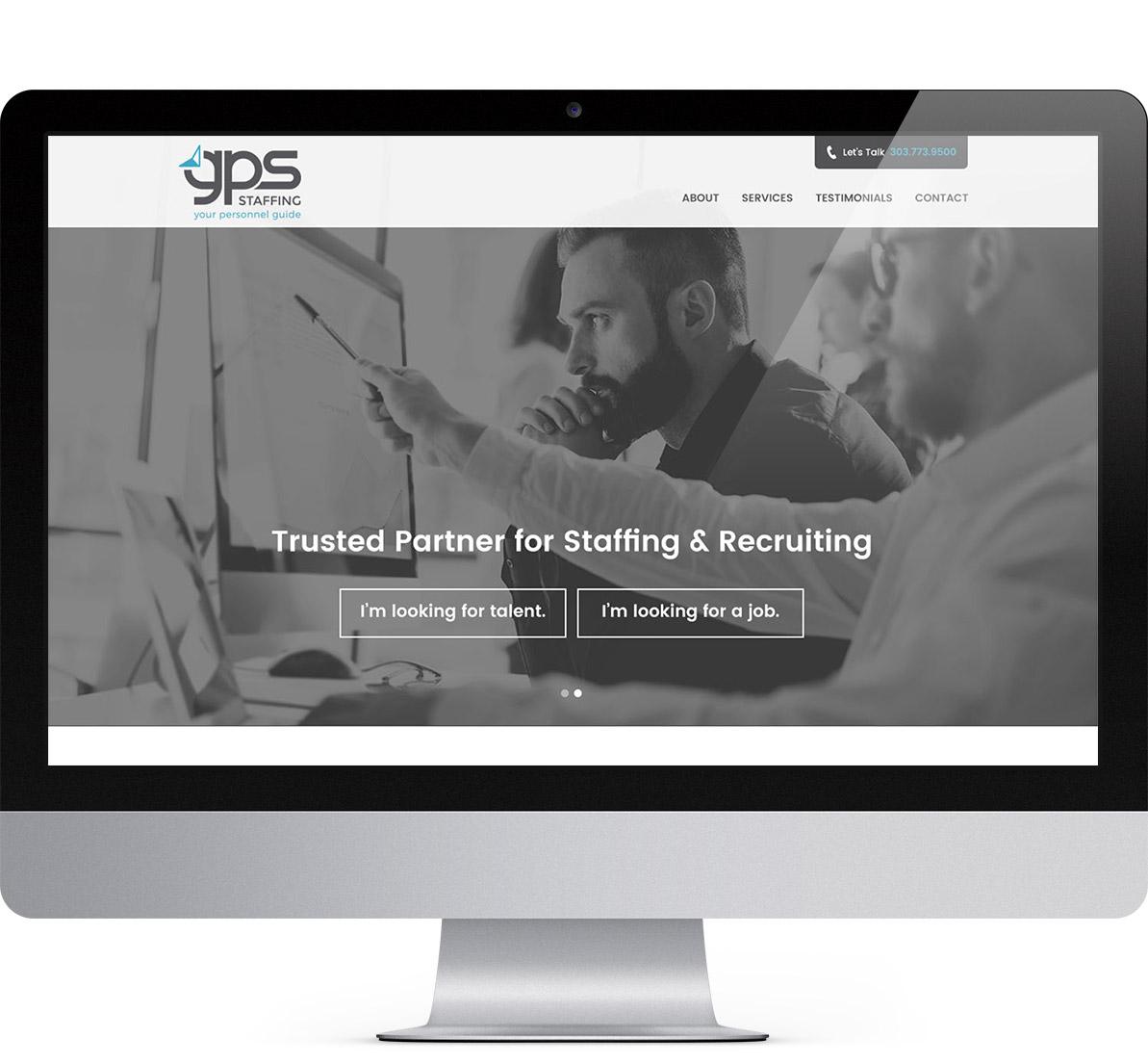 website design for gps staffing