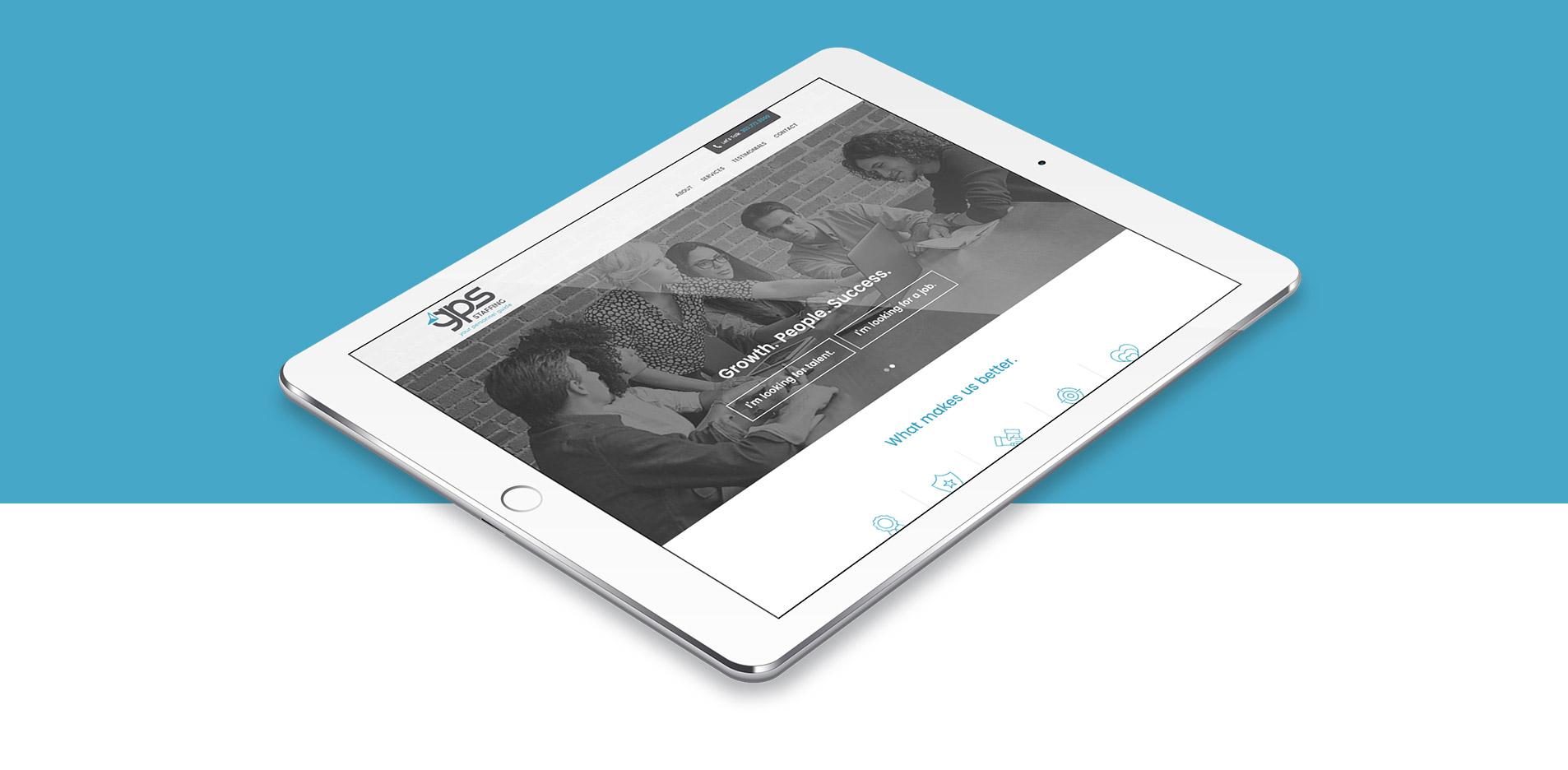 mobile website design for gps staffing