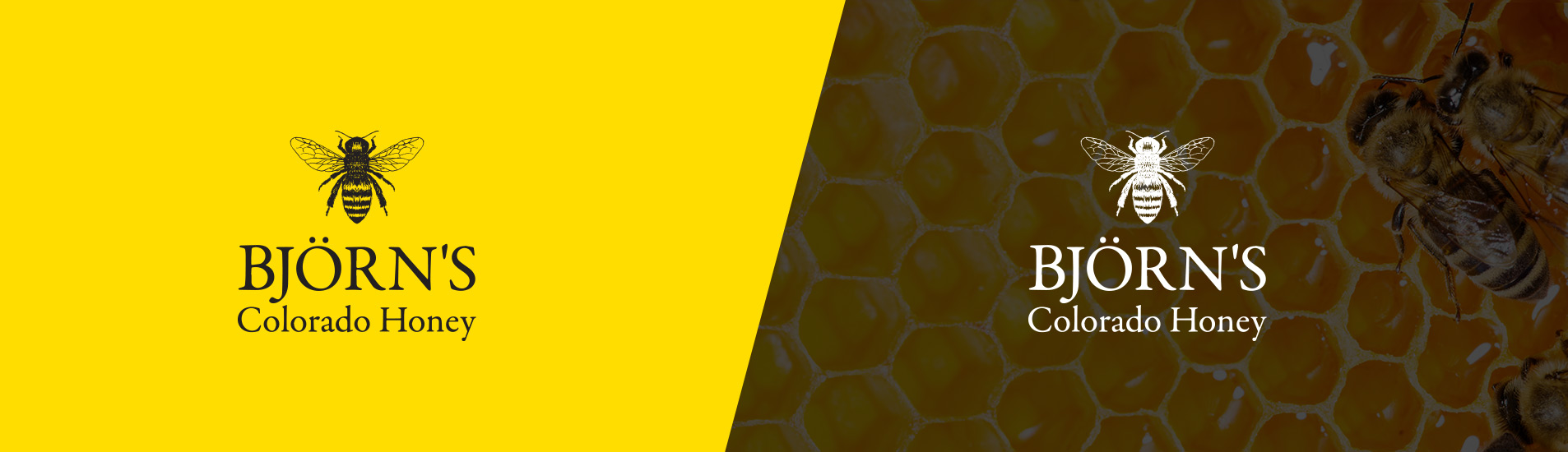 bjorns honey logo design