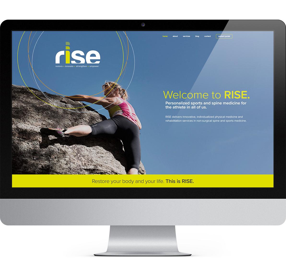 desktop website design for rise