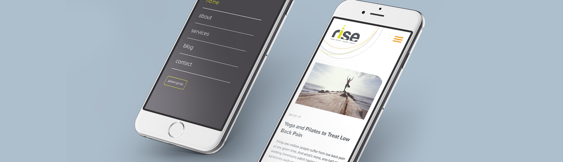 mobile website design on mobile phone