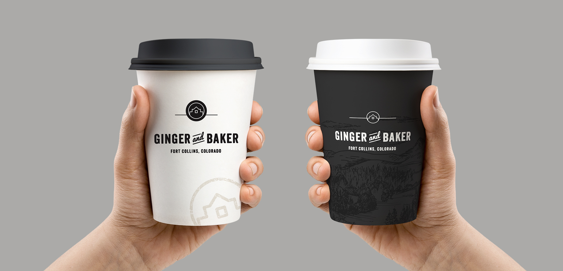 coffee cup design project for ginger and baker