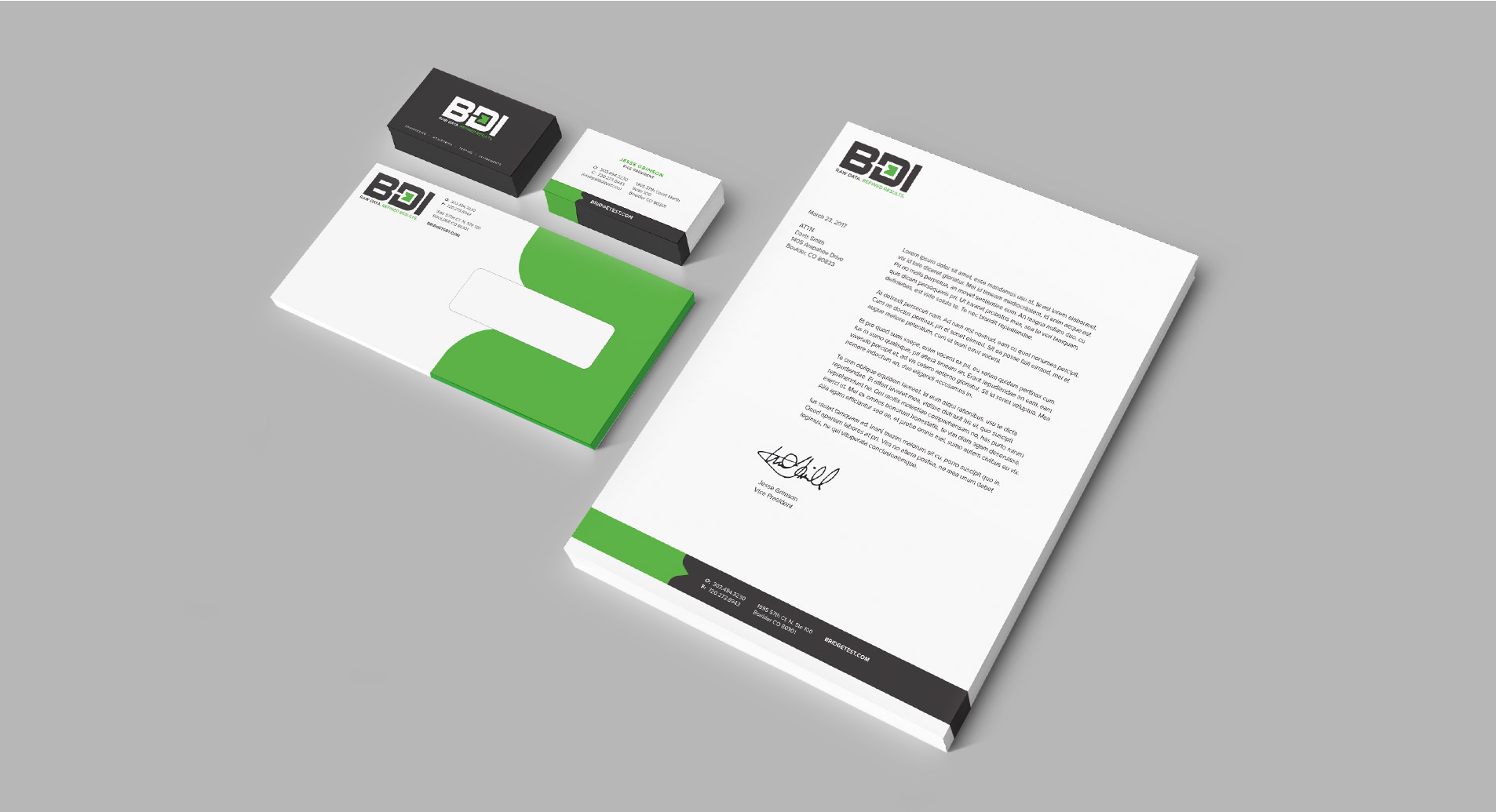 stationery design for bdi