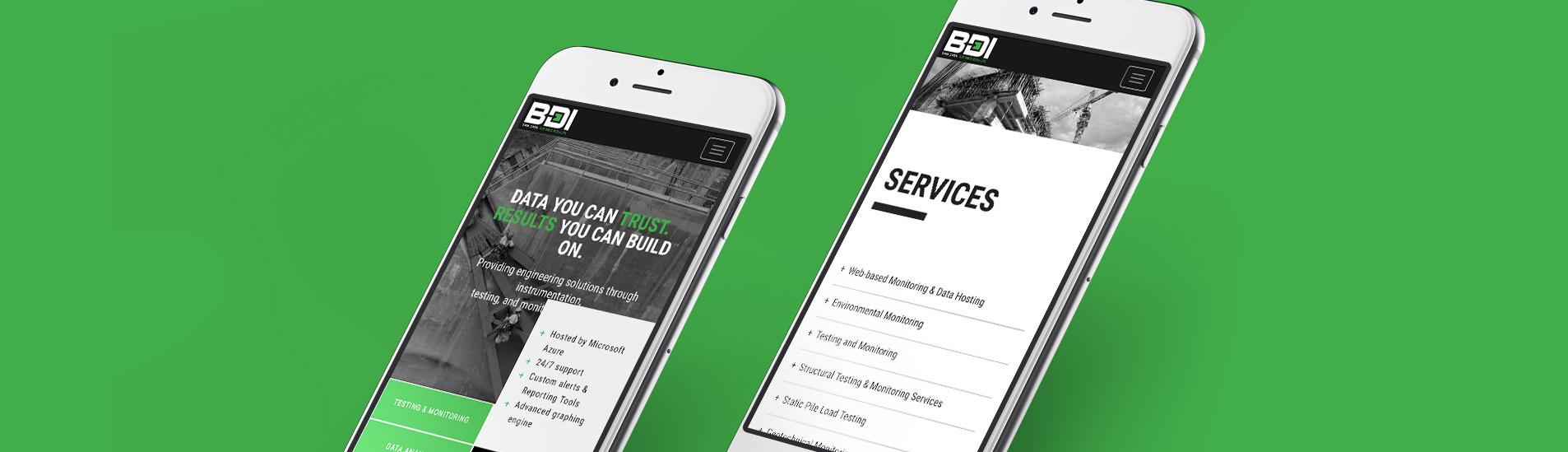 mobile website design for bdi