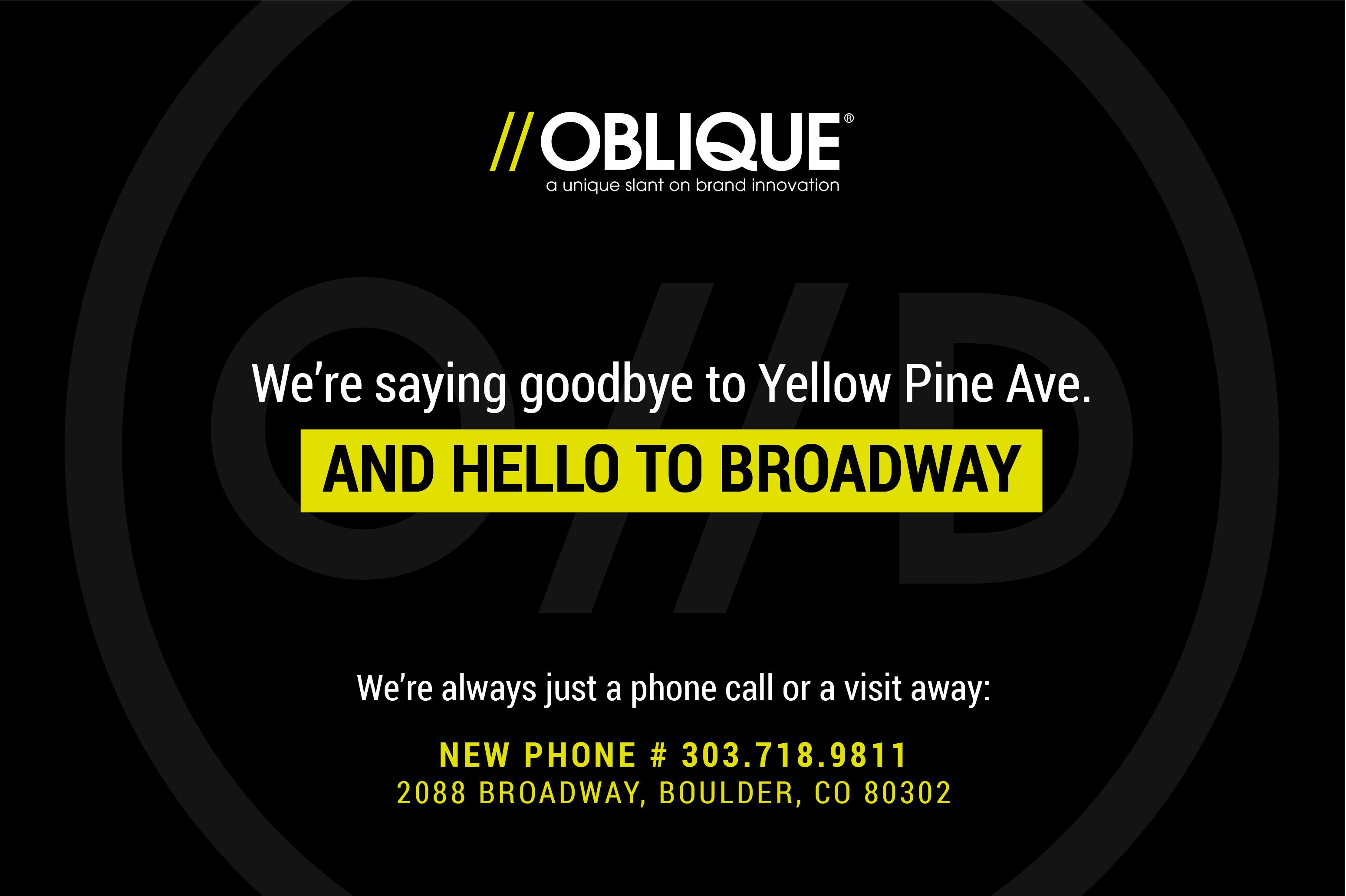 oblique design moving announcement