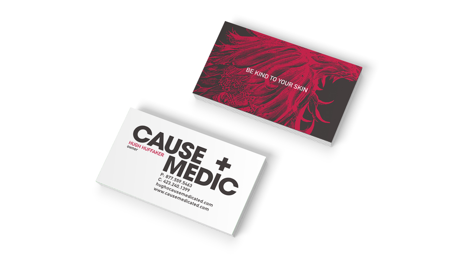 business card design for cause medic