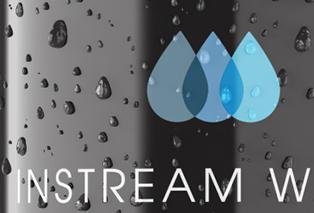 instream water logo design on vending machine