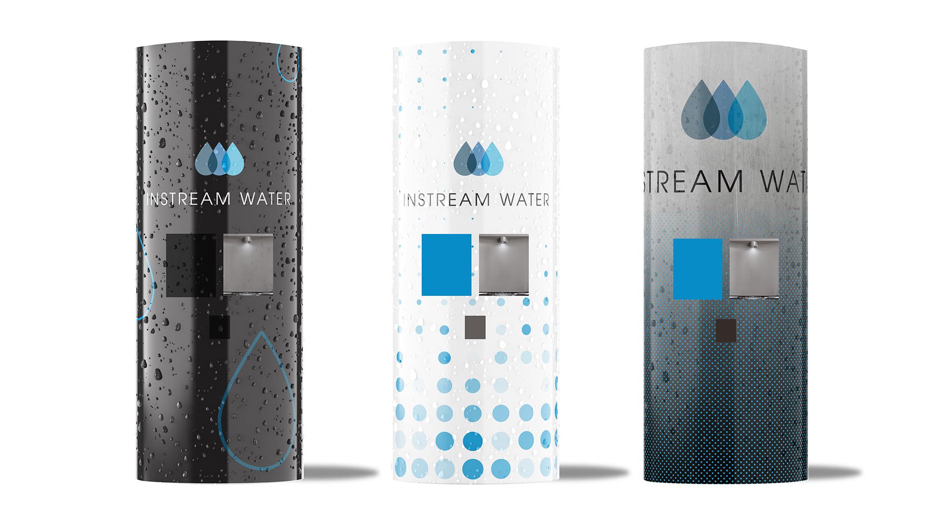 instream water dispensing kiosks