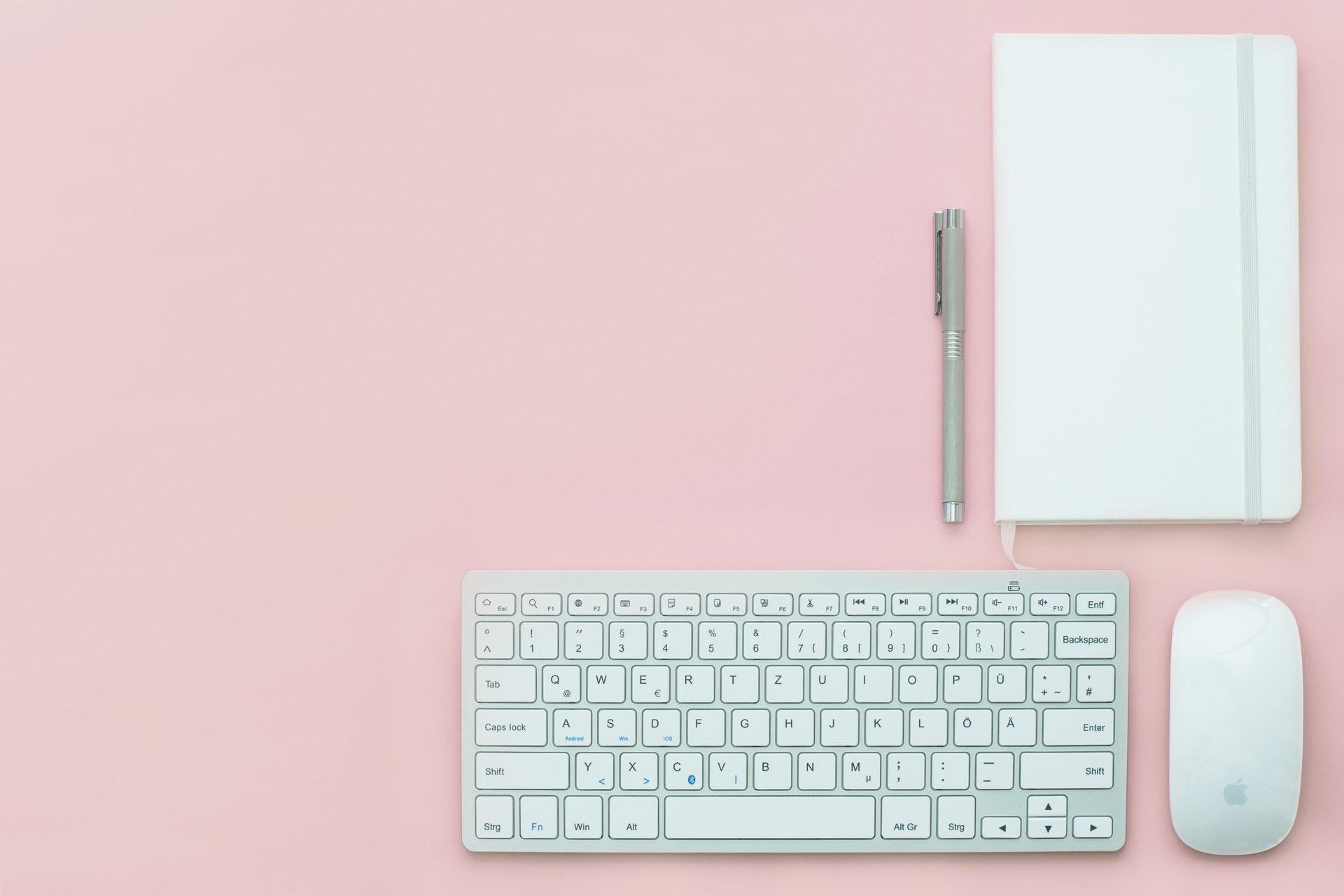 keyboard and notepad
