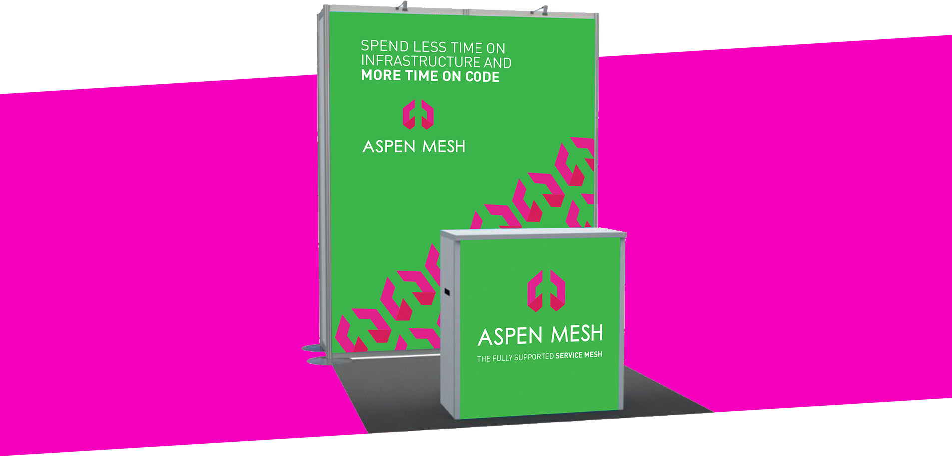 aspen mesh conference booth design