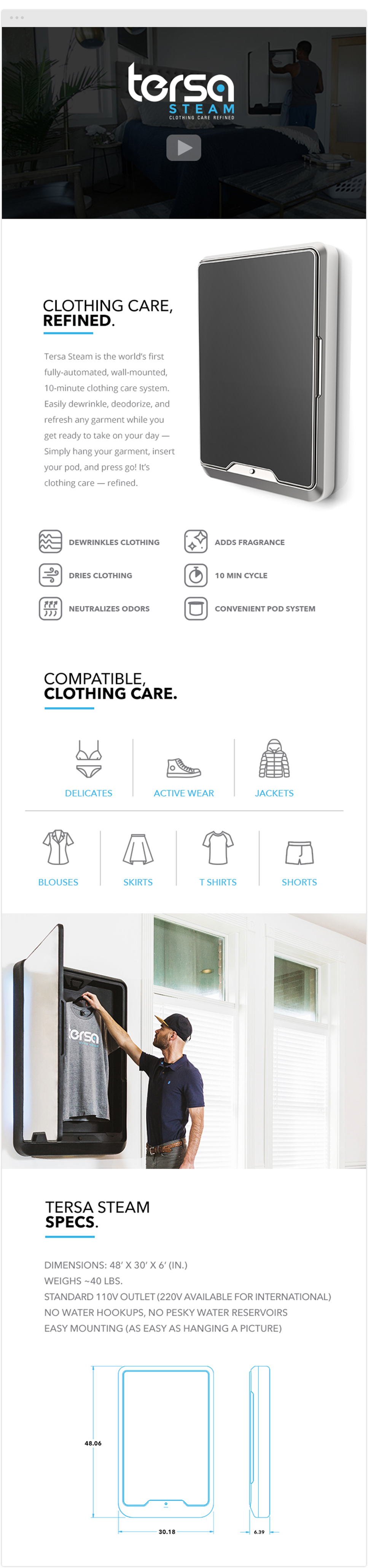 tersa product one-sheet print design
