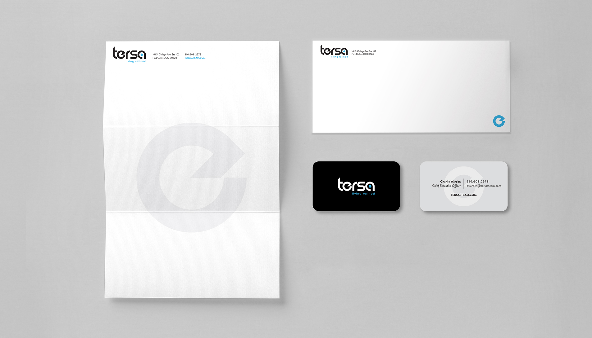 tersa stationery print design