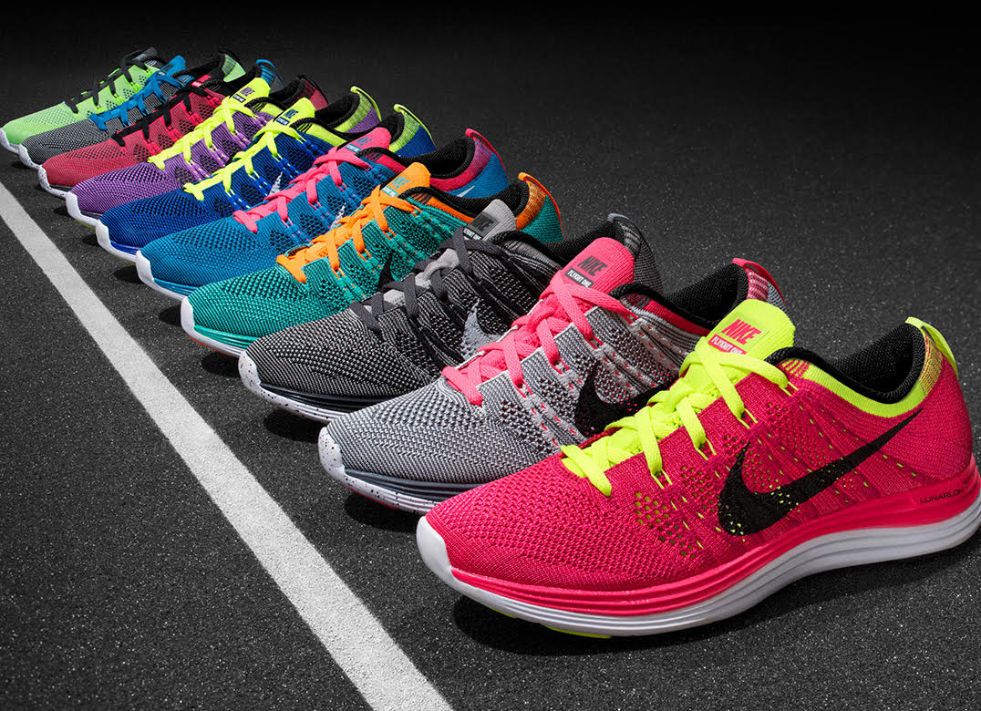 nike shoes in many colors
