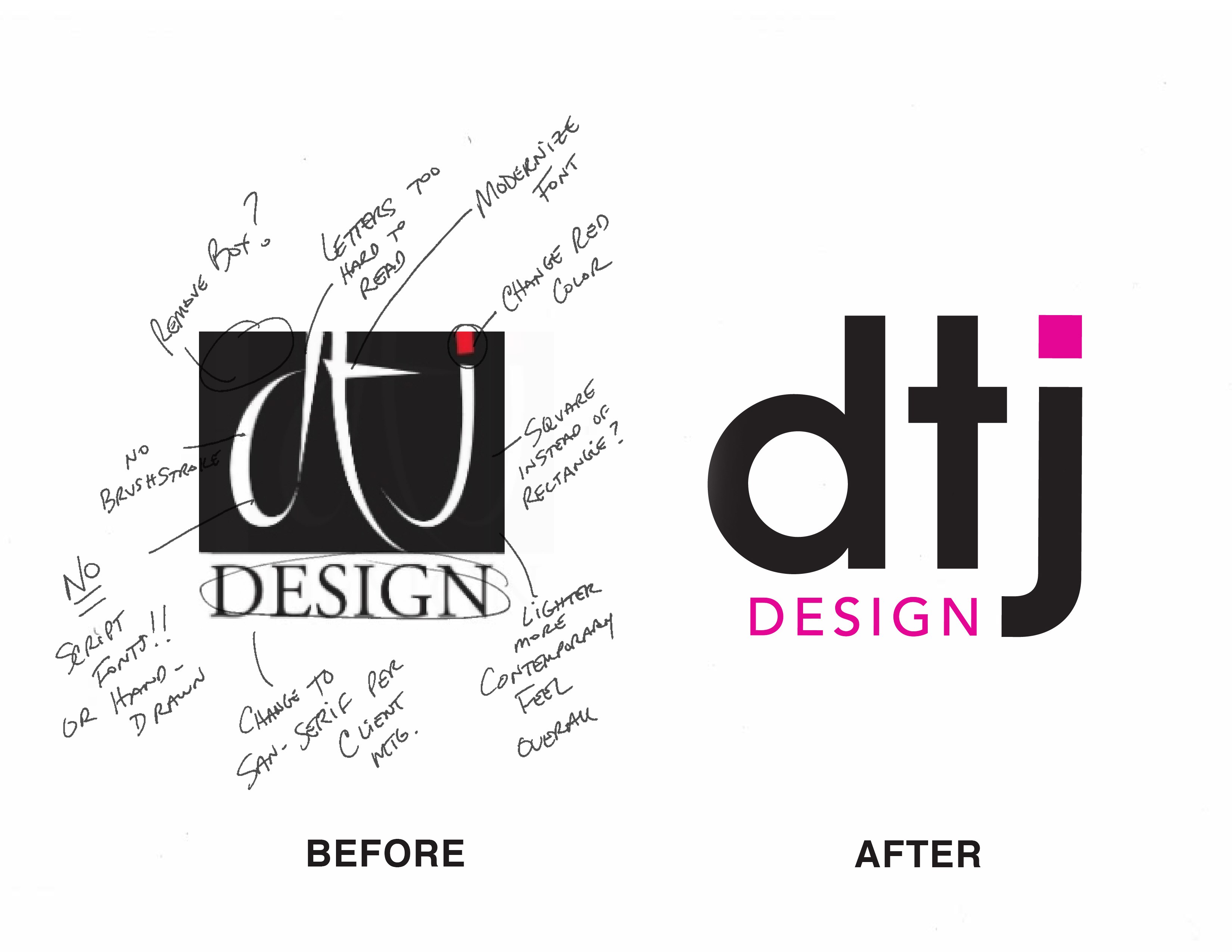 examples of logo redesign project