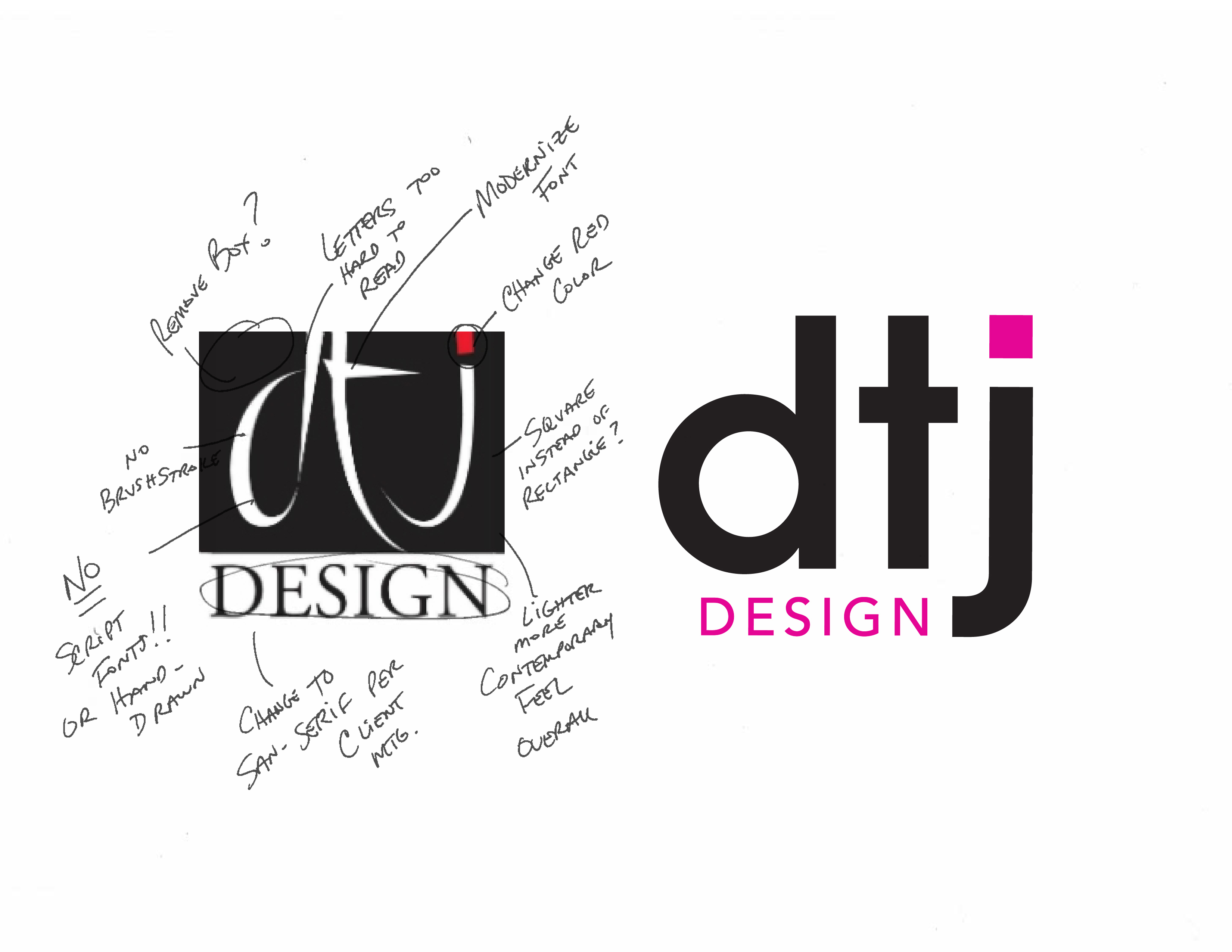 results of logo redesign for architecture firm