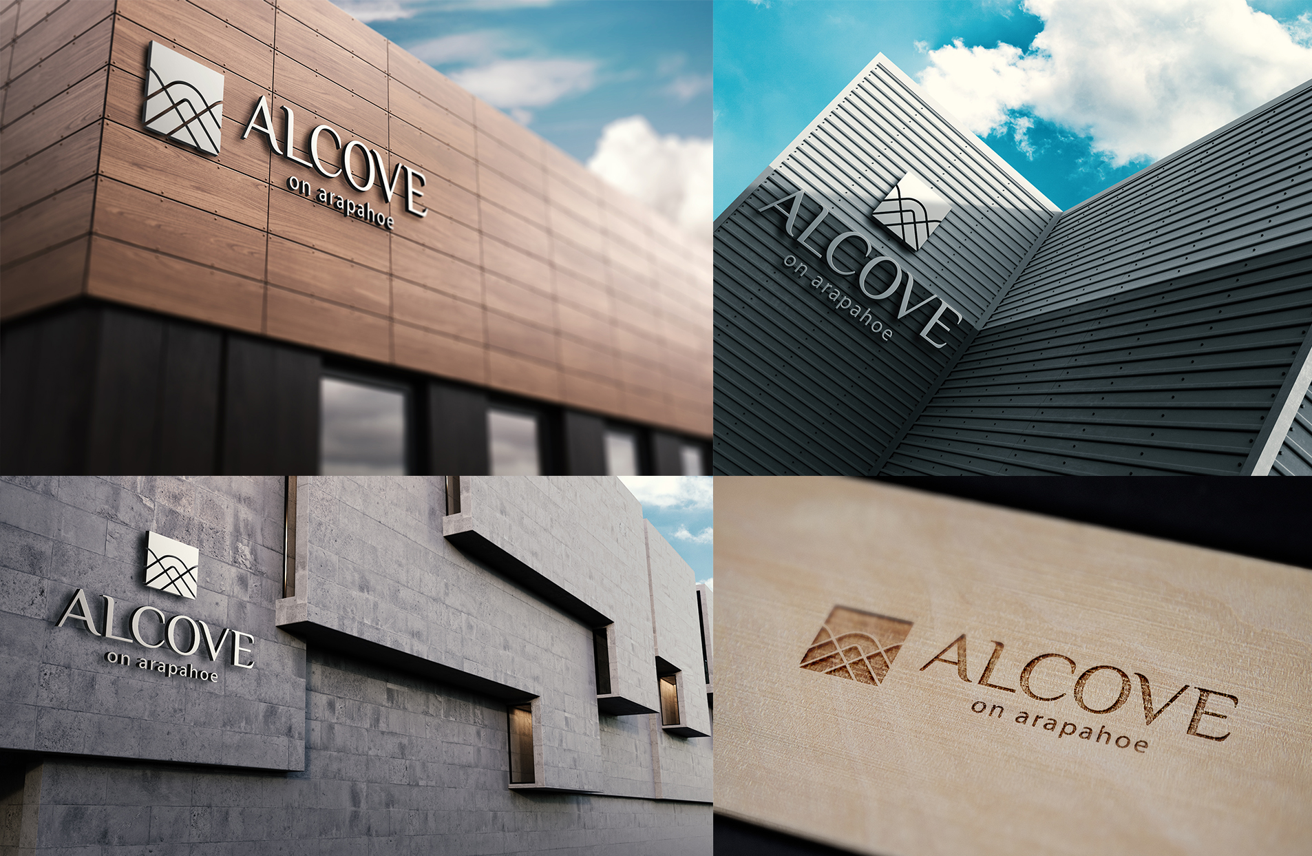 examples of alcove on arapahoe branding project