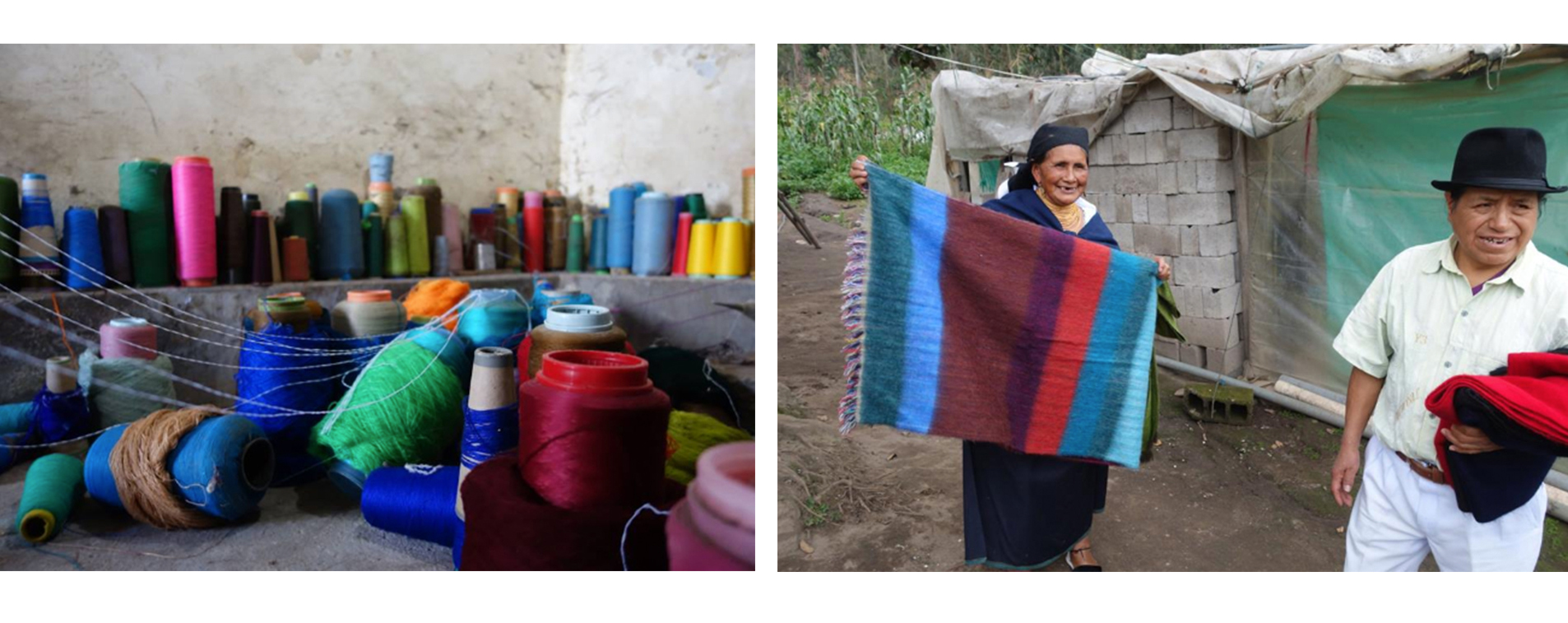 weavers with blankets