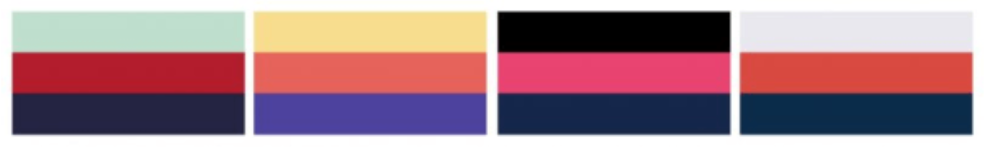 color palate for branding agency project