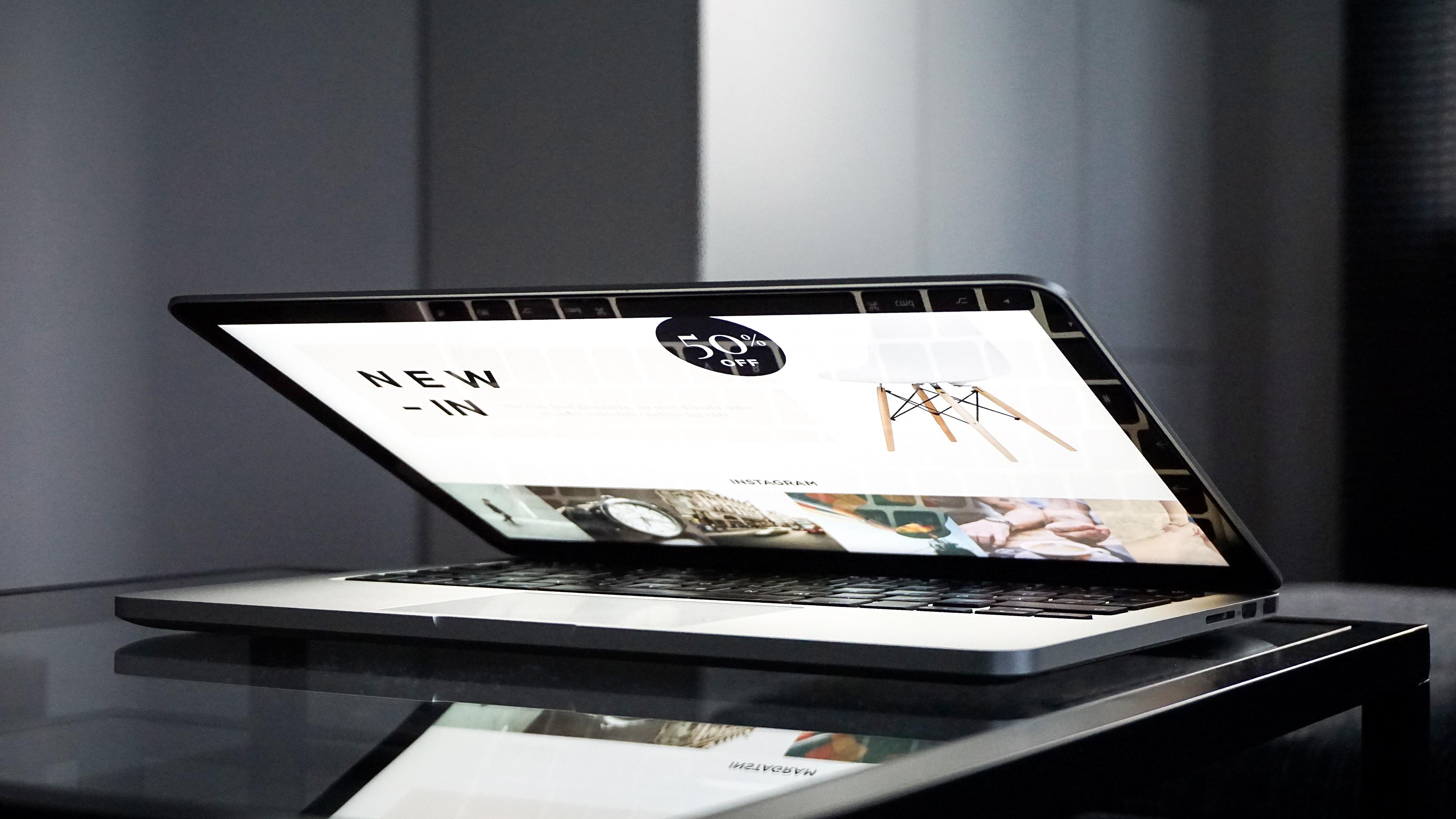 laptop half folded