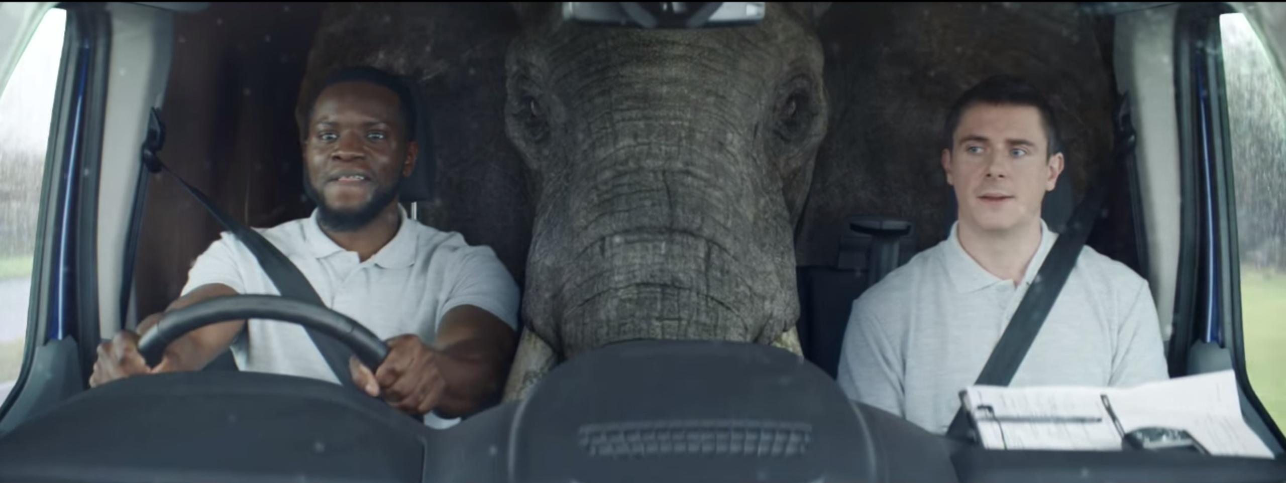 kevin hart driving with elephant