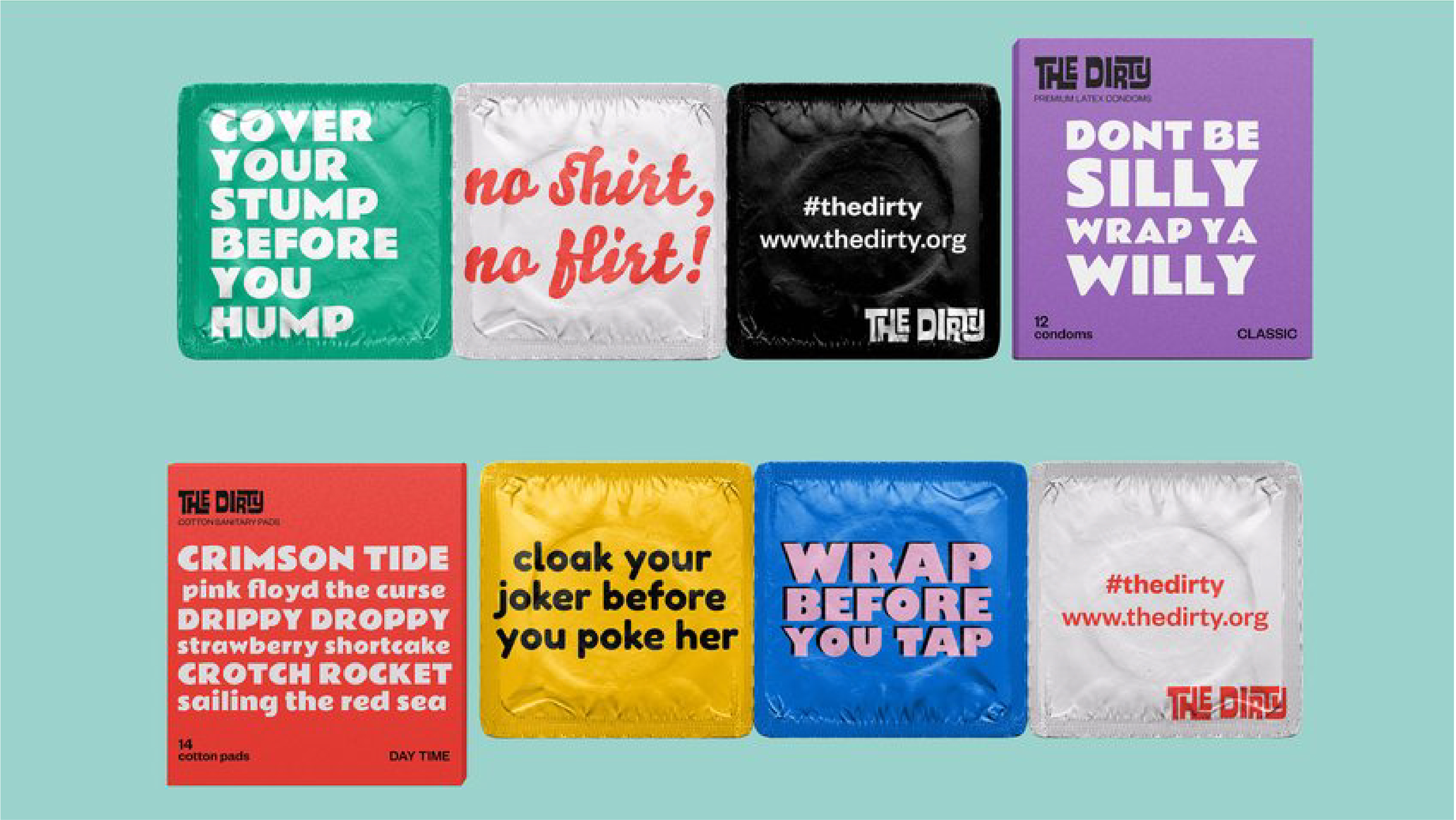 condoms with funny wrappers