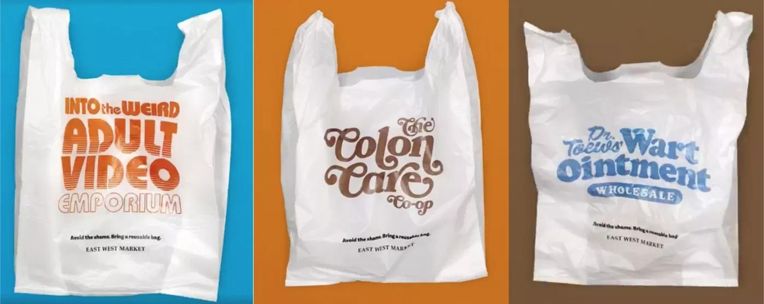 funny plastic bags