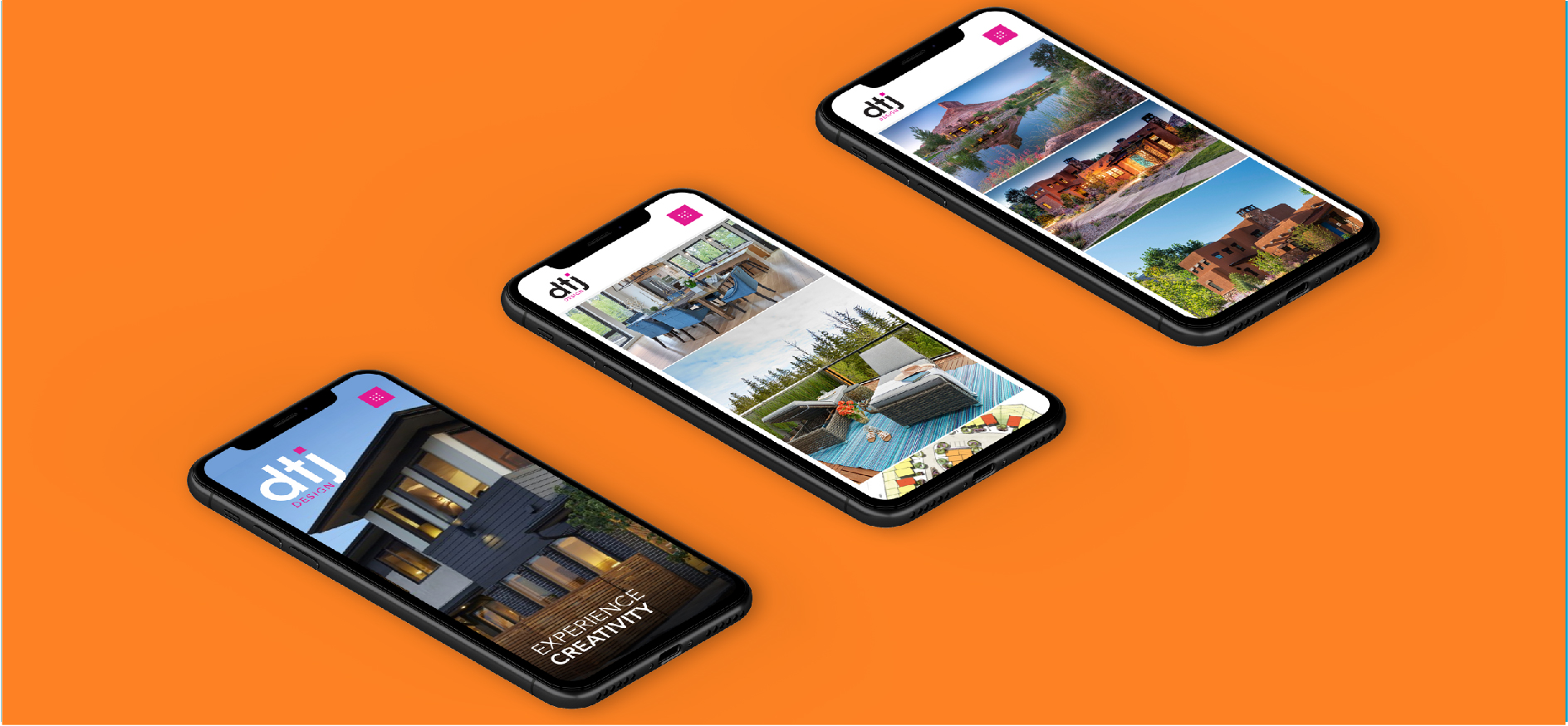 mobile website design for architecture firm