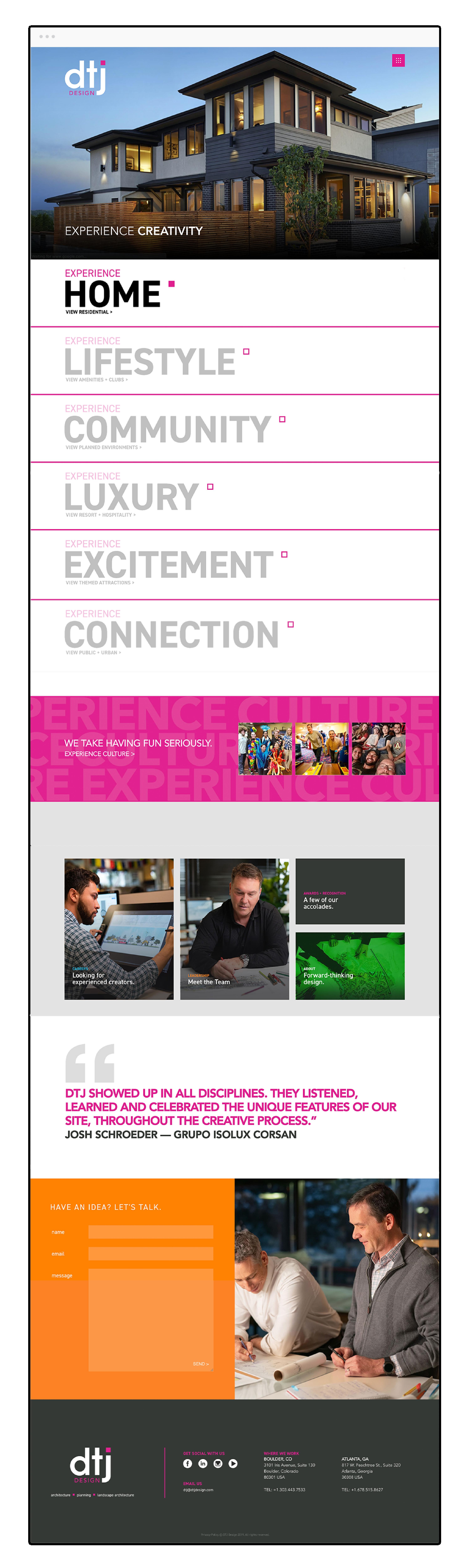 mobile website design project mockup