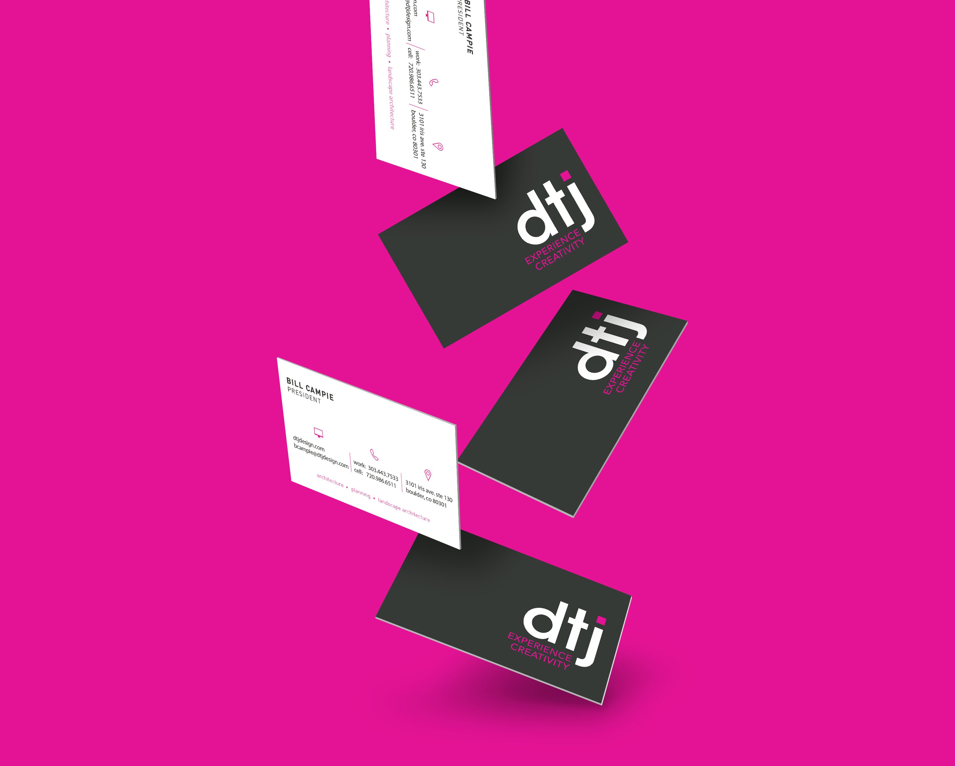 print design project, business cards