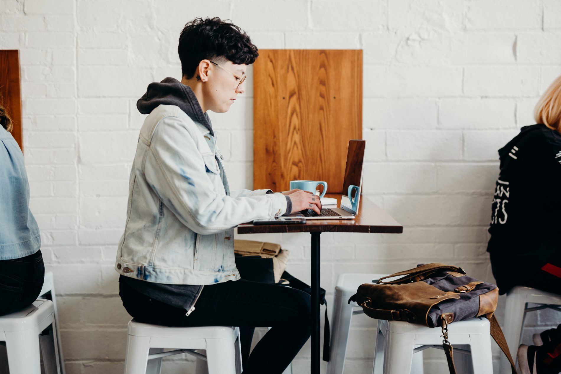 person working at coffee shop