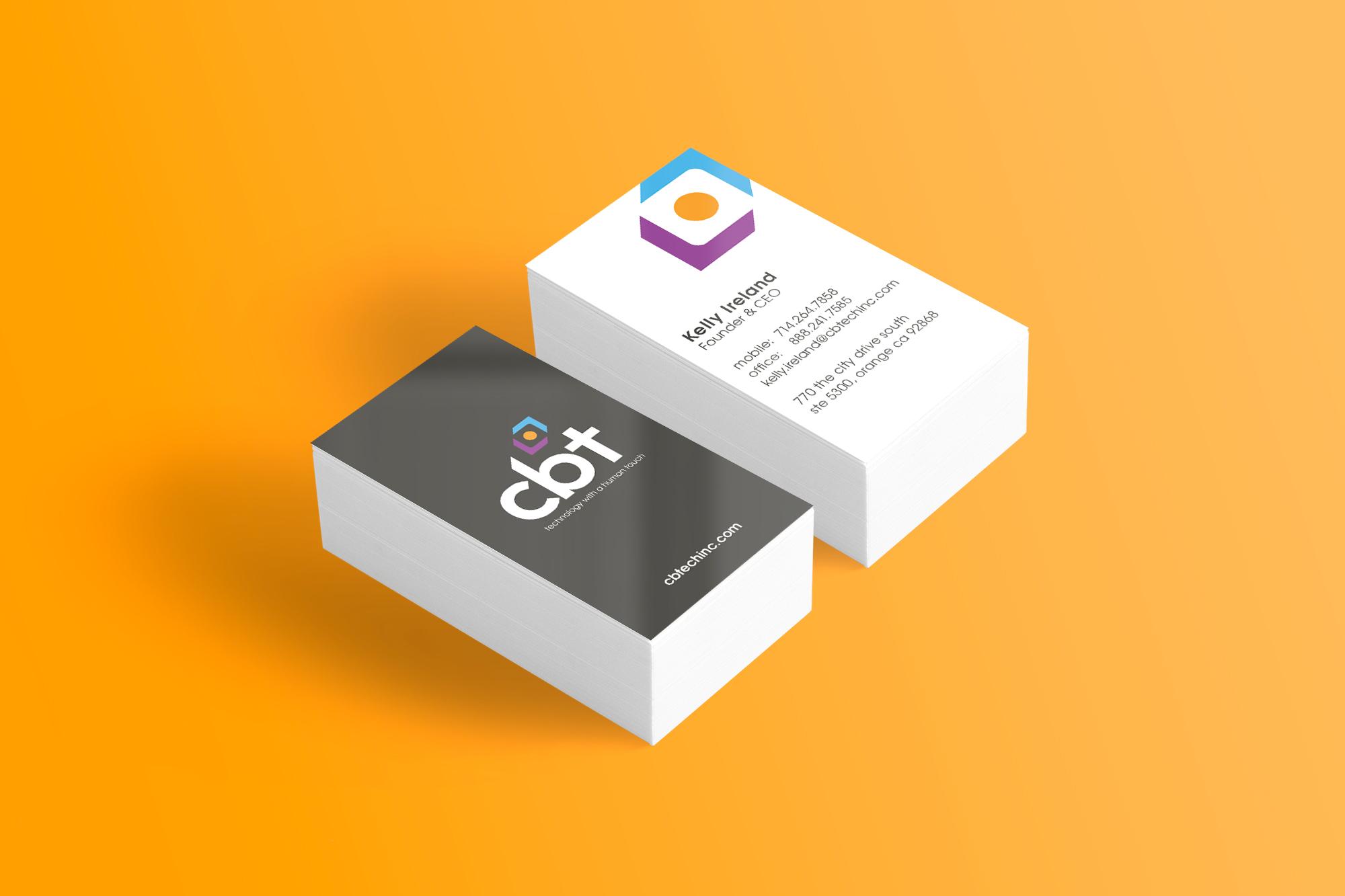 cbt business card design