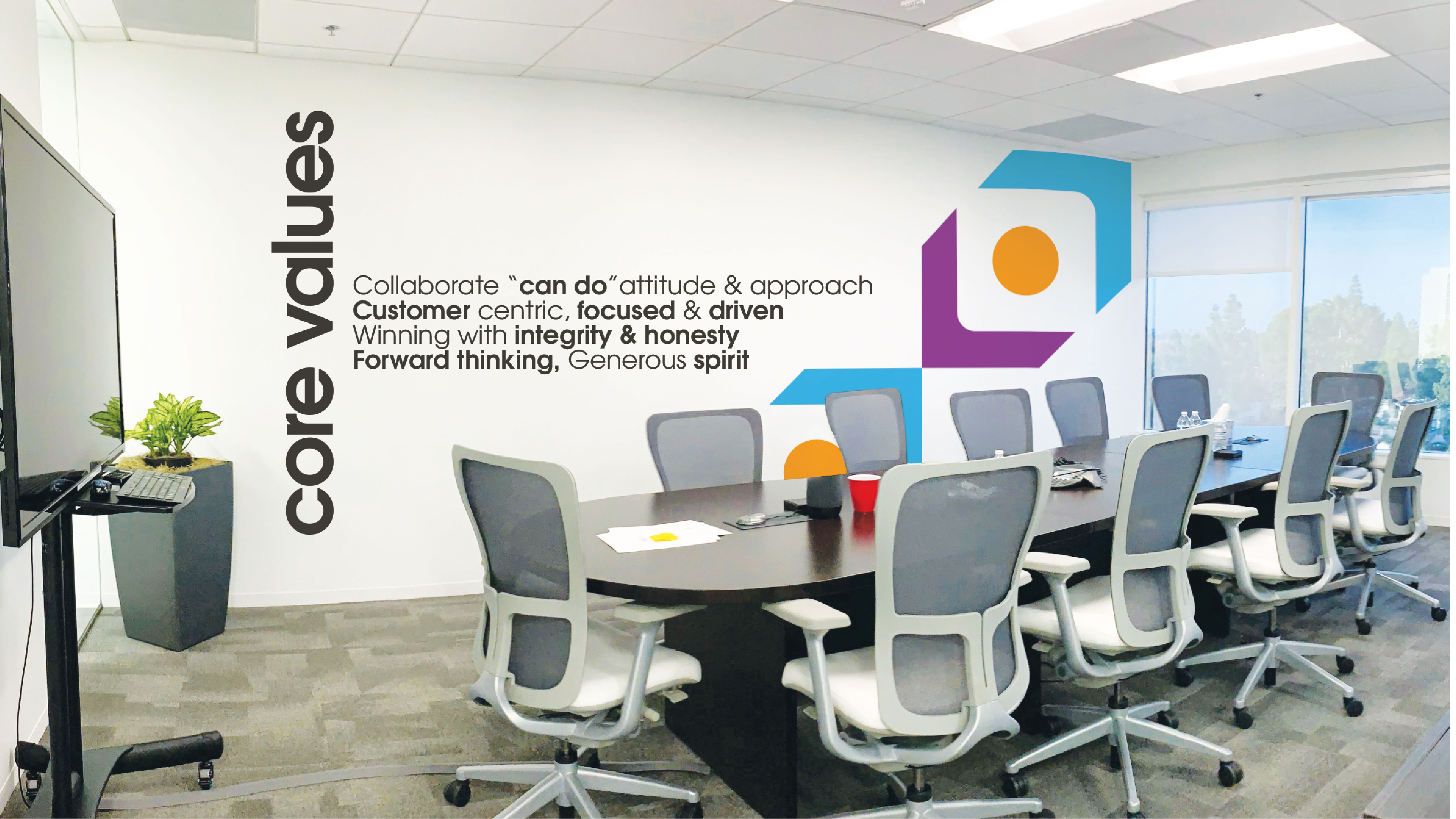 cbt mission statement on wall