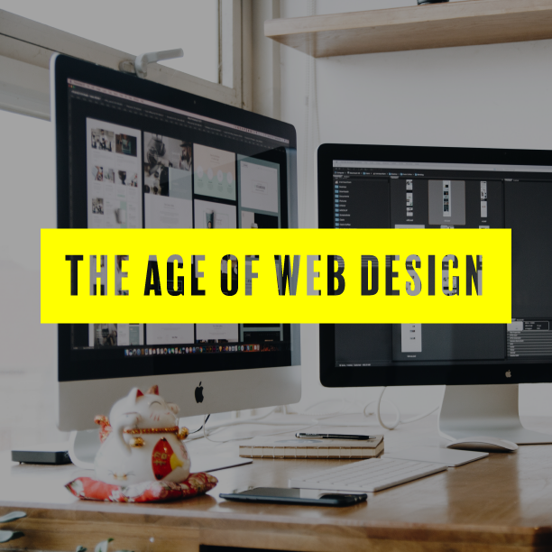 the age of web design text over computer