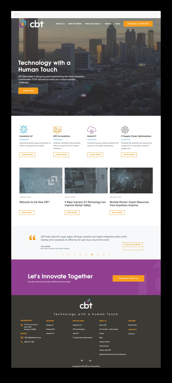 cbt mobile website design