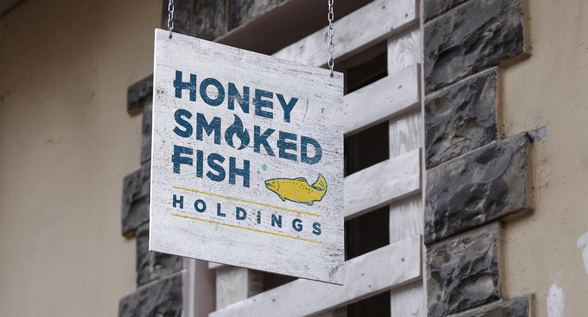 logo for honey smoked fish holdings