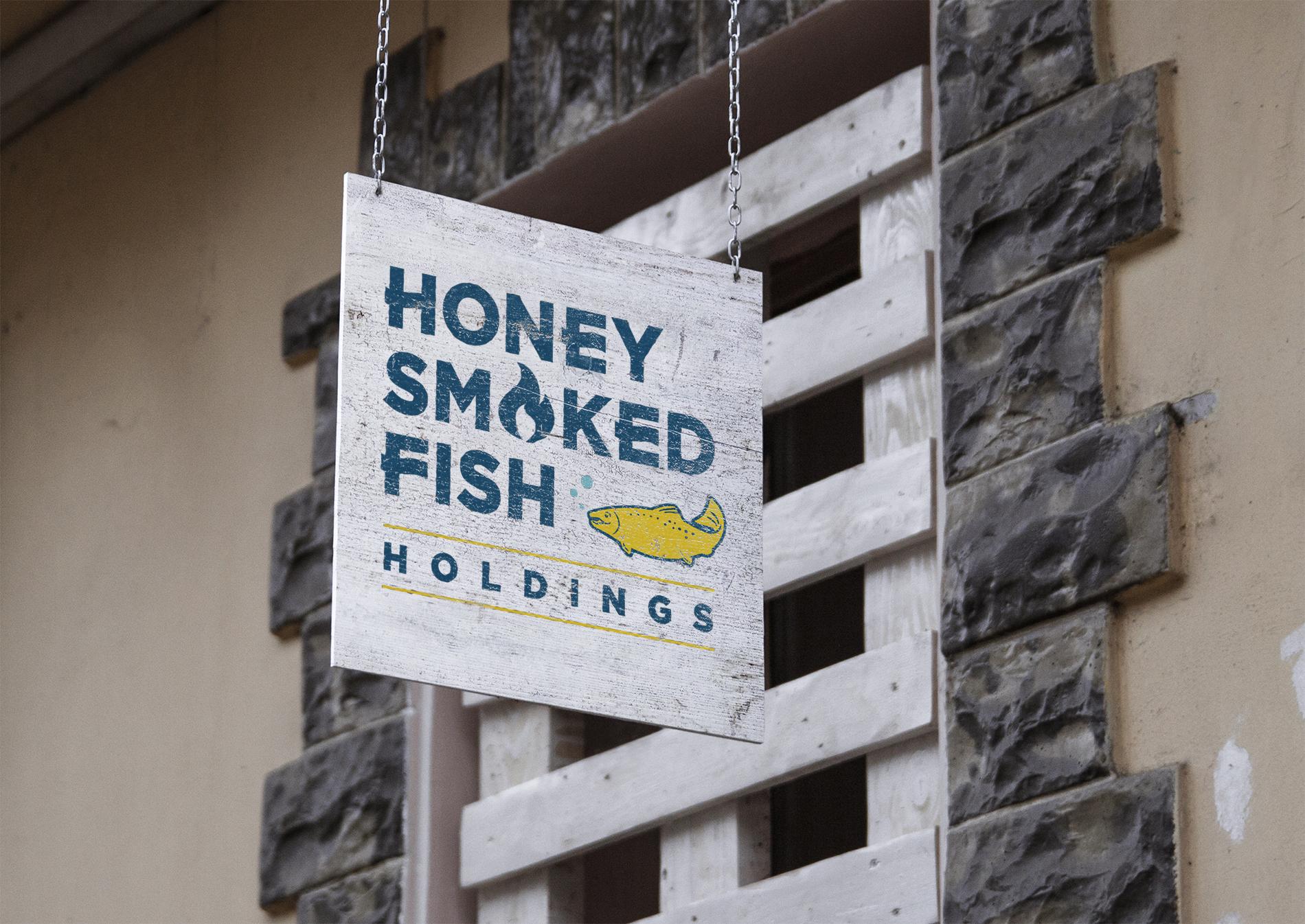 branding design for honey smoked fish holdings