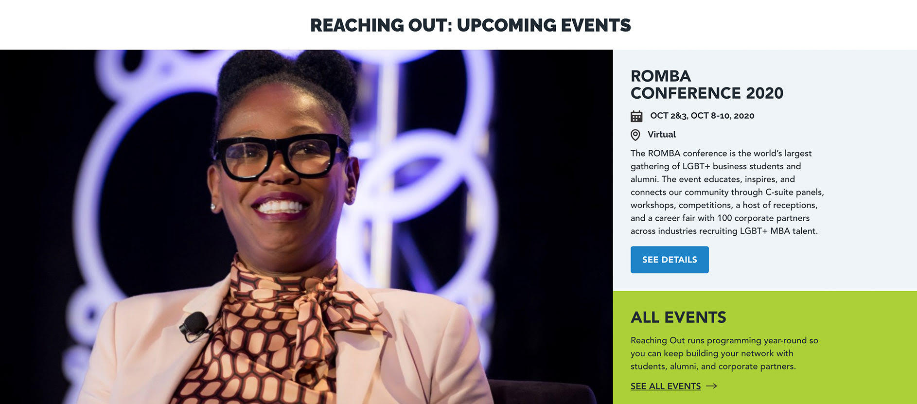 woman smiling at romba conference